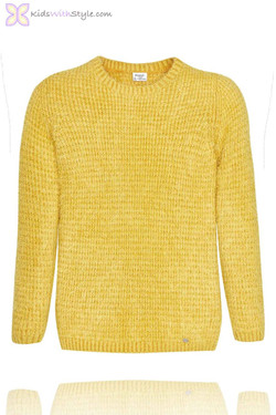 Girls Yellow Knit Sweater