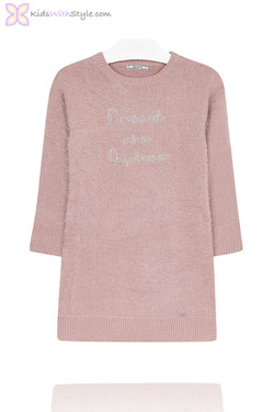 Girl's Pink Daydream Knit Dress