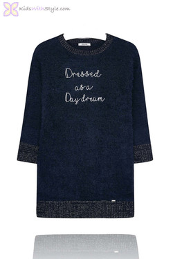 Girl's Navy Daydream Knit Dress