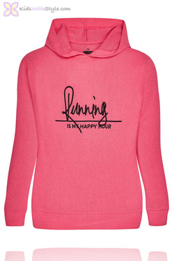 Girls Embroidered Fuchsia Workout Hoodie