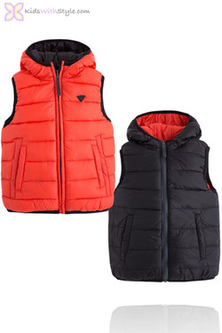 Boys Padded Orange Reversible Vest