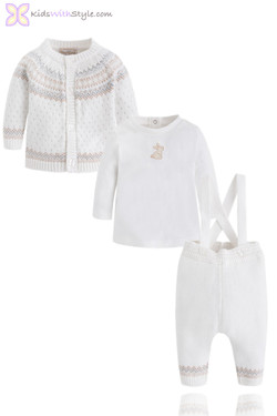 Baby Boy Knitted Pants and Jacket Set
