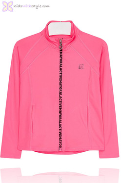 Girls Pink Zip Up Activewear Jacket