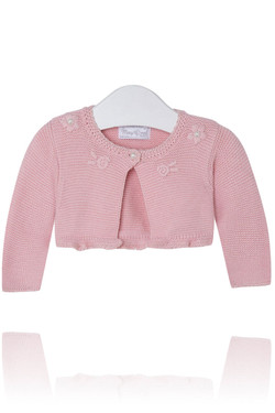 Baby Girl Light Pink Bolero Cardigan