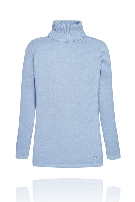 Girls Light Blue Turtleneck Sweater | Shop Girls Sweaters