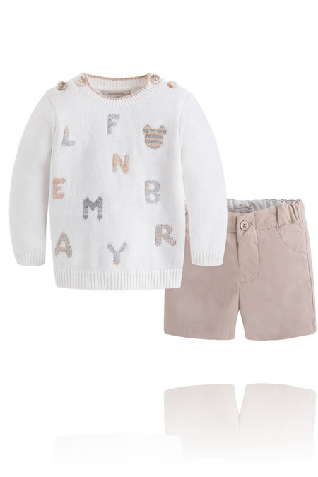 Boys 3 Pieces Numbers Sweater Set