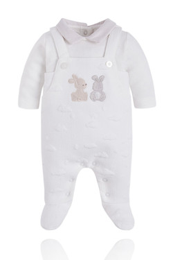 Luxury Neutral Baby Overall Onesie