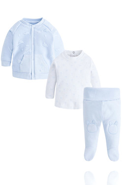 Baby Boy 3 Piece Blue Tracksuit Set