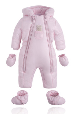 Baby Girl Pink Winter Bodysuit