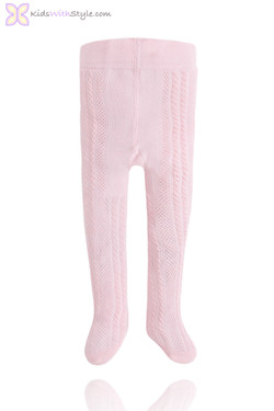 Baby Girl Pink Knitted Tights