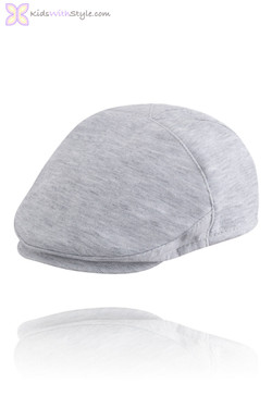 Baby Boy Grey Ponte Knit Beret