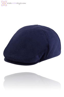 Baby Boy Navy Ponte Knit Beret