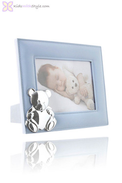 Baby Boy Blue Teddy Photo Frame