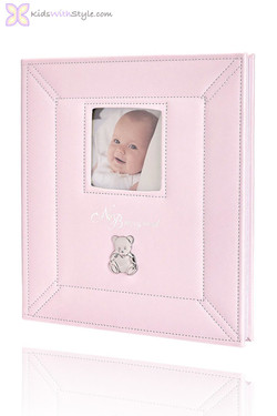 Baby's Pink Teddy Memory Book