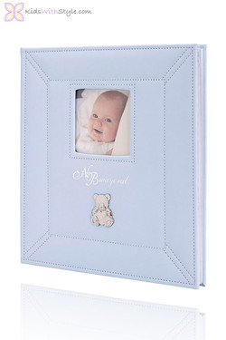 Baby's First Memories Blue Teddy Book