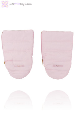 Baby Pink Quilted Mittens