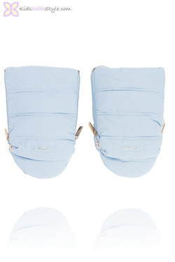 Baby Blue Quilted Mittens