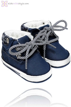 Baby Boy Navy Lace Up Boots
