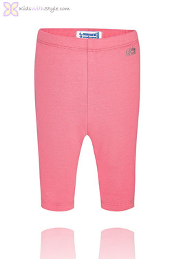 Baby Girl Cropped Pink Leggings