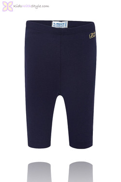 Baby Girl Cropped Navy Leggings