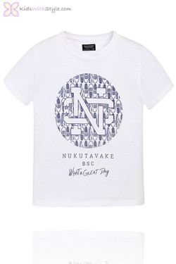 Boys Graphic White T-Shirt