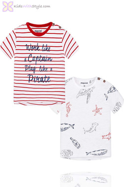 Baby Boy Set of 2 Printed T-Shirts in Red