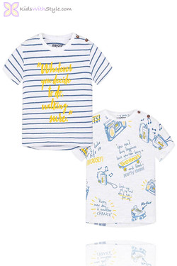 Baby Boy Set of 2 Printed T-Shirts in Blue