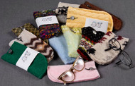 Unique cell phone or eyeglass case for pet lovers. Soft upcycled wool.