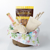 Holiday gift basket for dogs.  Organic and Made in the USA.  Purrfectplay.com