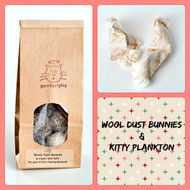 Buy your cat a holiday gift bag filled with amazing catnip toys and natural chase balls.  Organic cat toys made in USA. Made with love.