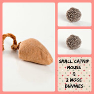 Sweet little gifts for cats - like little boxes of kitty candy. Made in the USA.  Purrfectplay.com