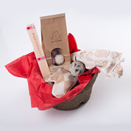 Valentine's Day gift basket for cats. Filled with organic natural cat toys made in the USA.  Feel the love!