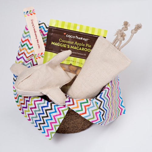 Spring gift basket for dogs.  Organic and Made in the USA.  Purrfectplay.com