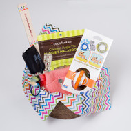 Gift Basket for walking your dog.  Fun and practical.  Green dog walking!  Made in USA. Purrfectplay.com