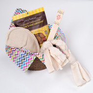 Gift basket for dogs.  Organic dog toys, made in the USA.  Purrfectplay.com