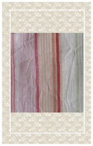 Pretty doll scaled pastel striped gauze