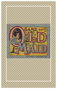 "Edwardian reproduction Old Maid card game sized for 10-11"", 14-15"", or 18-20"" dolls."