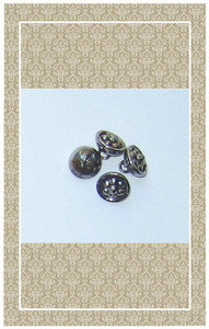 Antique cut steel cup buttons scaled for dolls