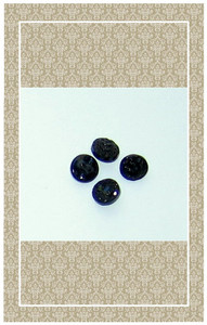 Doll scaled antique black glass buttons