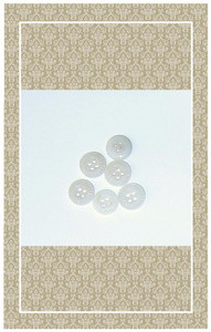 Doll scaled antique white glass buttons