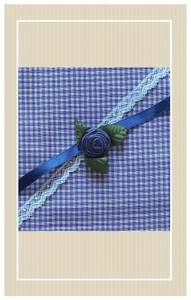 Early vintage lawn gingham project set.