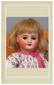 """Pattern sized for both antique and reproduction 10 7/8"""" Bleuette dolls."""