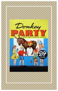 Darling 1949 game of Pin the Tail on the Donkey.