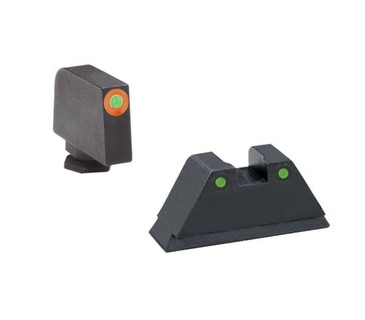 "Ameriglo: Glock Suppressor Sight Set (.315"" Tritium-Orange Front/.394"" Black-Tritium Rear) GL-452"