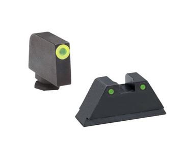 "Ameriglo: Glock Suppressor Sight Set (.315"" Tritium Lumi-Green Front/.394"" Tritium Black Rear) GL-252"