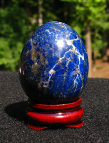 LAPIS EGG ~ 33MM ~ DREAMS ~ AWARENESS ~3RD EYE ~ CONTACT SPIRIT GUIDES 1042