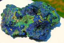 AZURITE MALACHITE ~ DEEP HEALING ~ ENHANCES CLAIRVOYANT ABILITIES~CONDUCTOR 1184