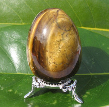 TIGER EYE POLISHED EGG ~ GROUNDING ~ PROTECTION ~ VISION ~ PSYCHIC 0008