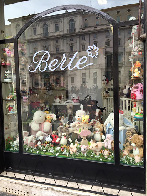 Berte gift shop in Rome, Italy—Happy Easter from The Flower Lady, Milwaukee Florist!