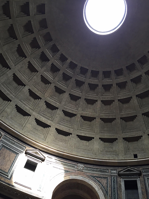 Interior dome of the Pantheon, Rome, Italy—Happy Easter from The Flower Lady, Milwaukee Florist!
